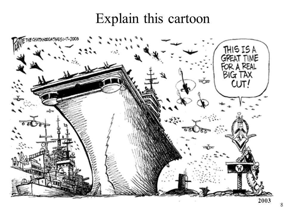 Explain this cartoon 2003