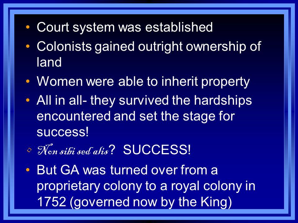Court system was established