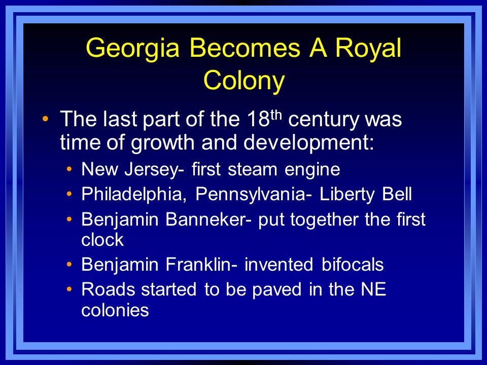 Georgia Becomes A Royal Colony