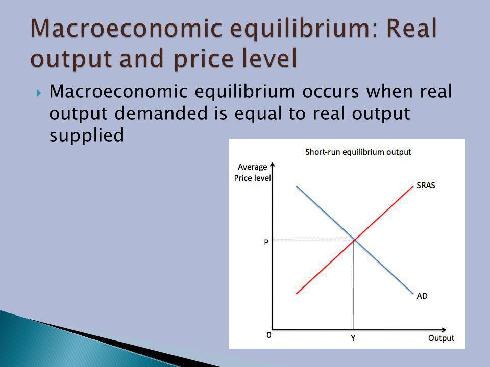 Macroeconomic equilibrium: Real output and price level