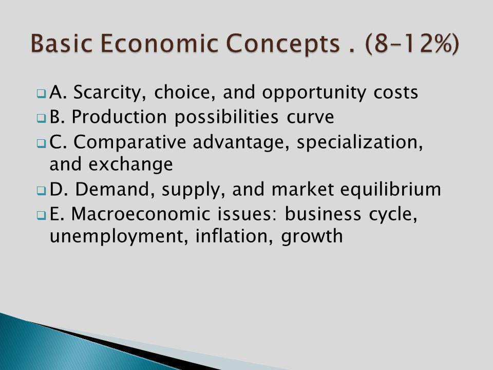 Basic Economic Concepts . (8–12%)
