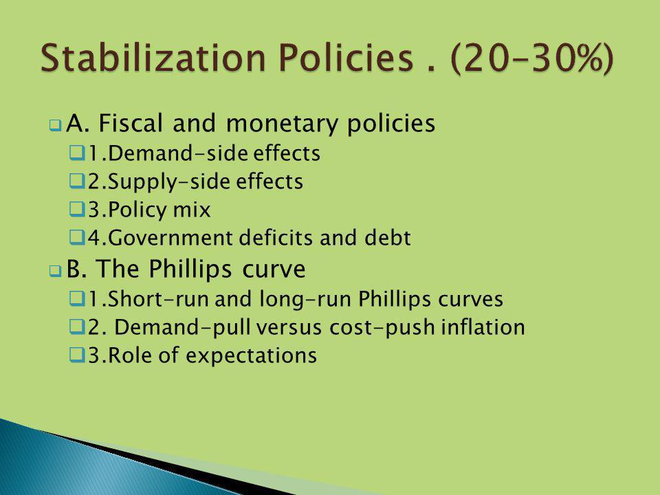 Stabilization Policies . (20–30%)