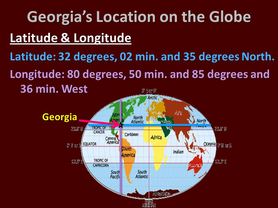 Georgia's Location on the Globe