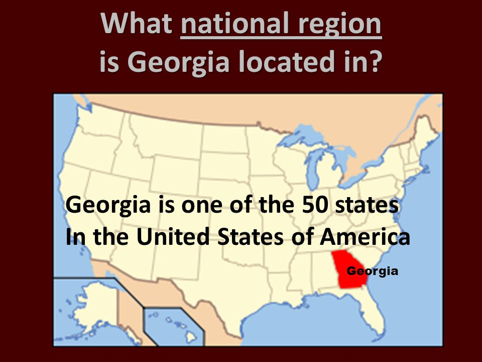 What national region is Georgia located in