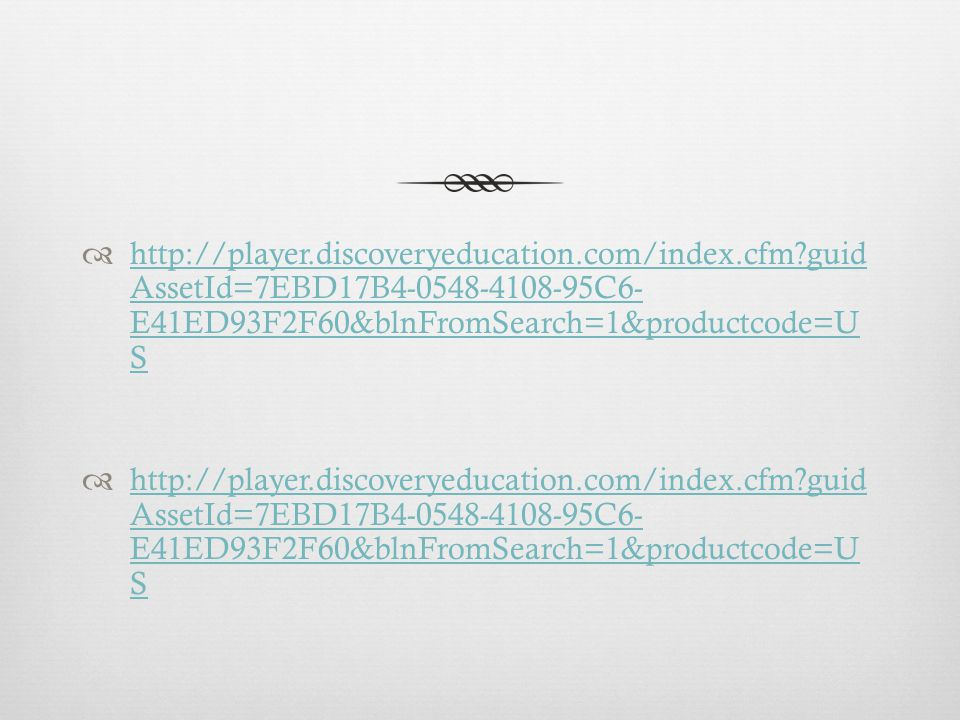 http://player. discoveryeducation. com/index. cfm