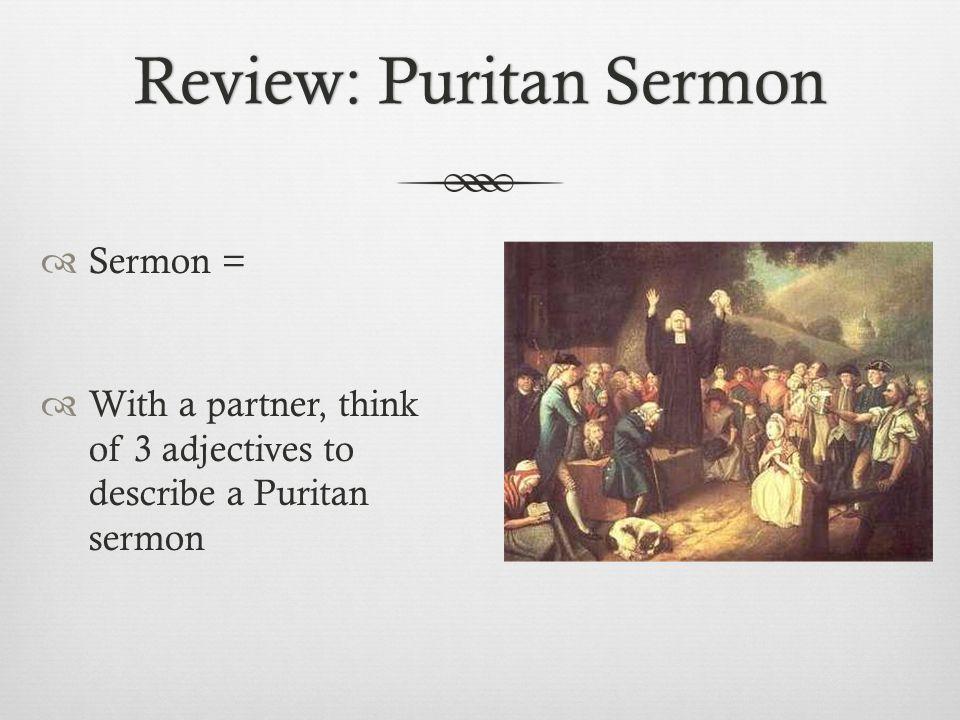 Review: Puritan Sermon