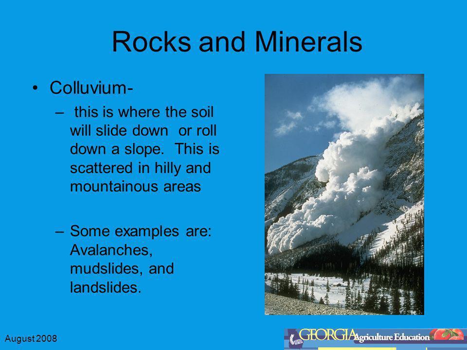 Rocks and Minerals Colluvium-