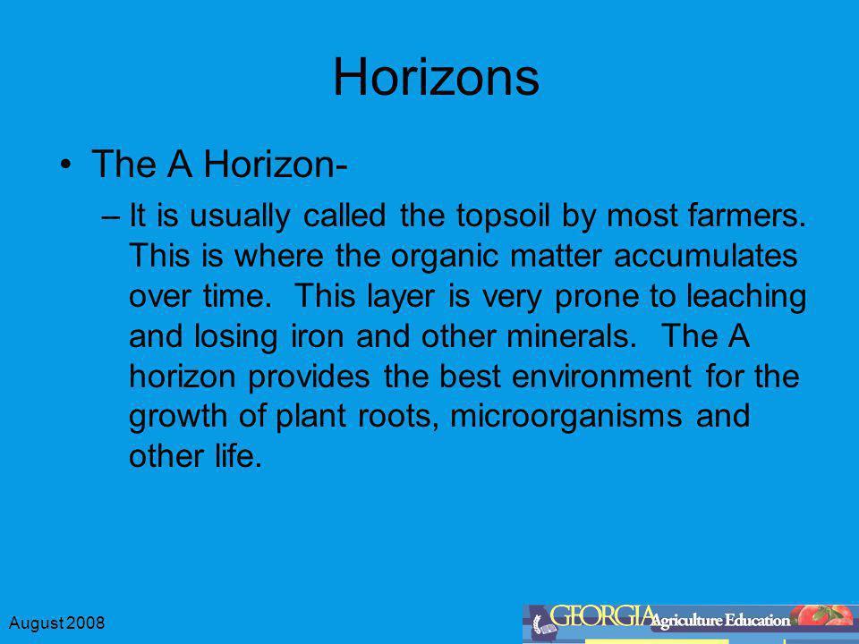 Horizons The A Horizon-
