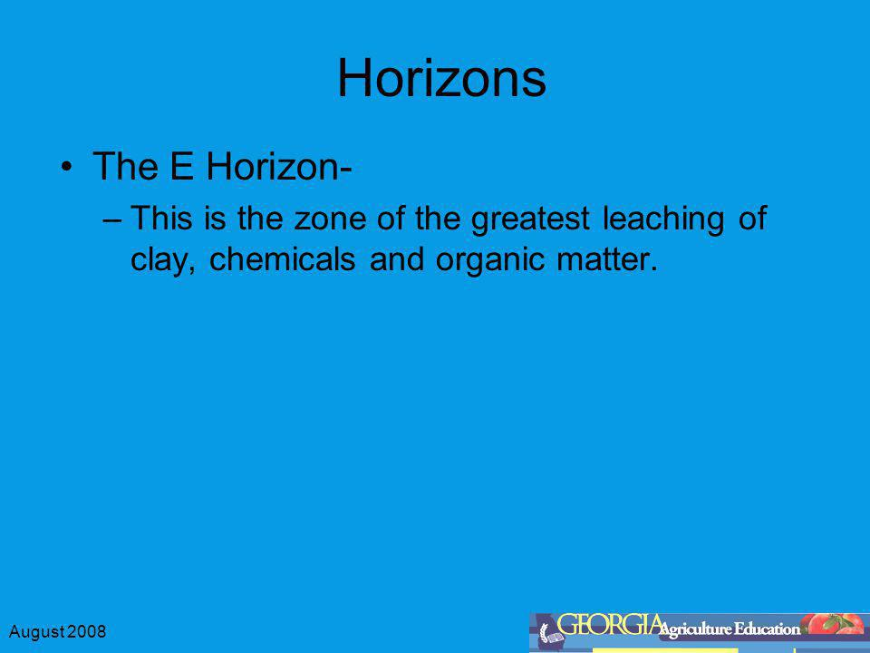 Horizons The E Horizon-