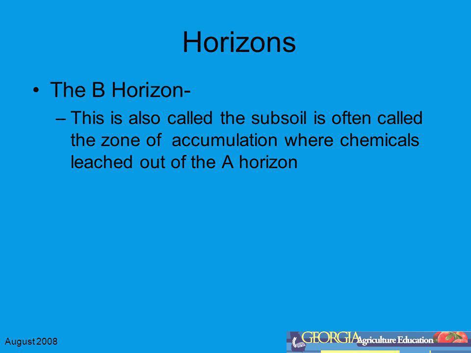 Horizons The B Horizon-