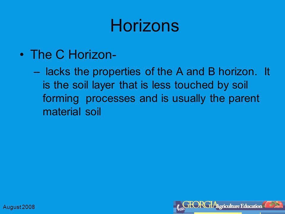 Horizons The C Horizon-
