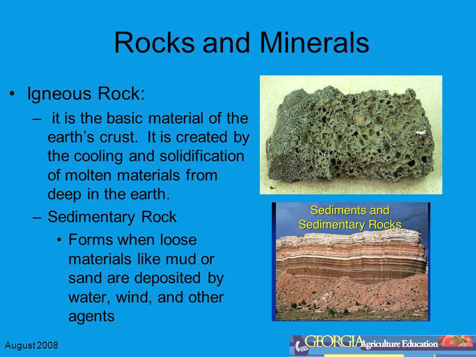 Rocks and Minerals Igneous Rock: