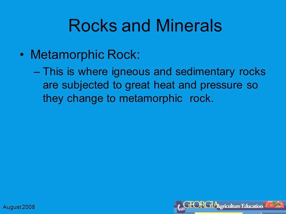 Rocks and Minerals Metamorphic Rock: