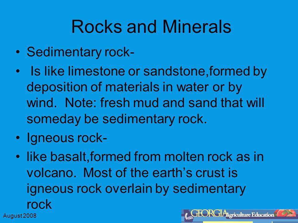 Rocks and Minerals Sedimentary rock-