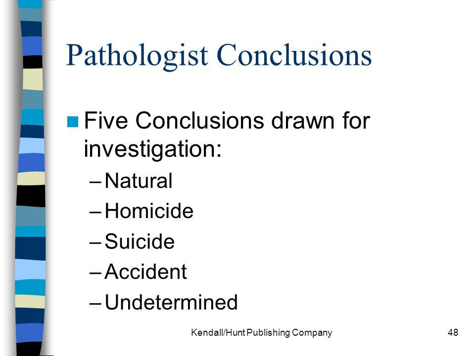 Pathologist Conclusions