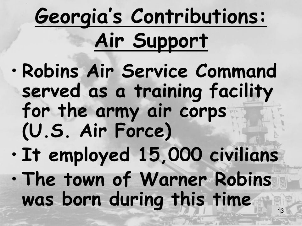 Georgia's Contributions: Air Support