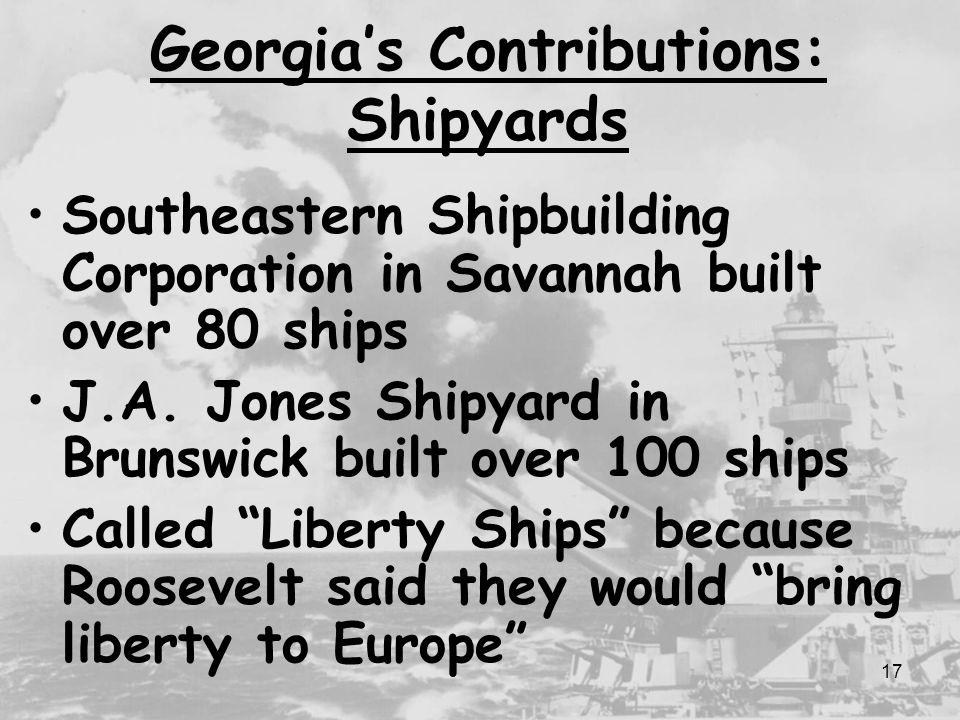 Georgia's Contributions: Shipyards