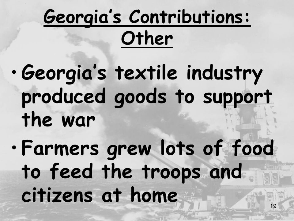 Georgia's Contributions: Other