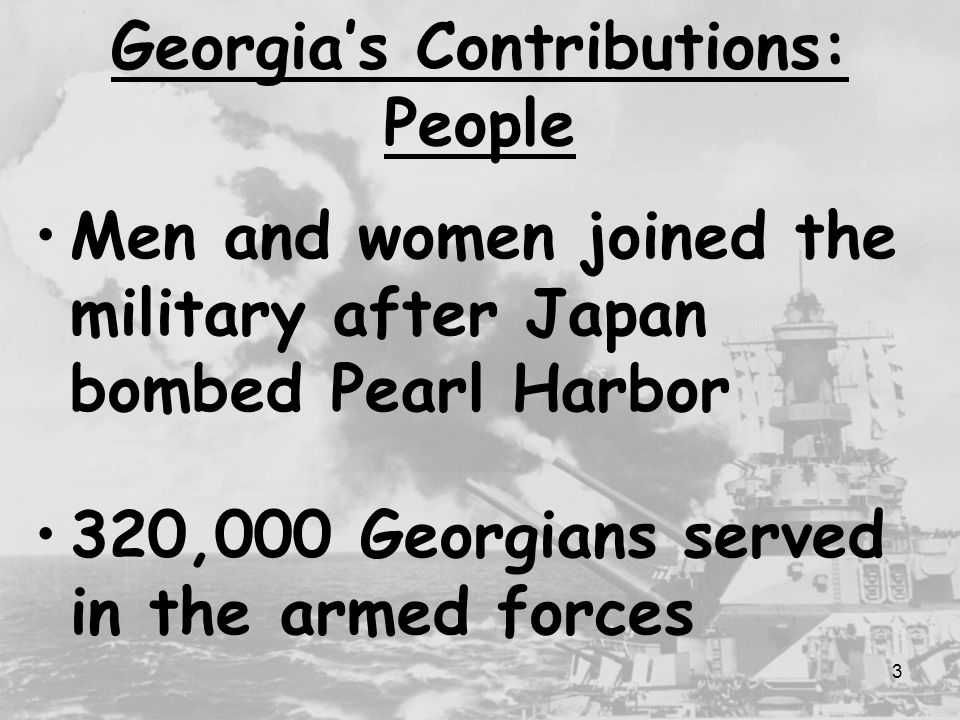 Georgia's Contributions: People