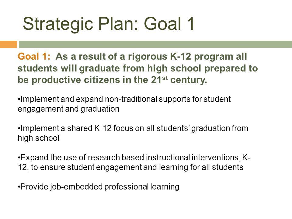 Strategic Plan: Goal 1