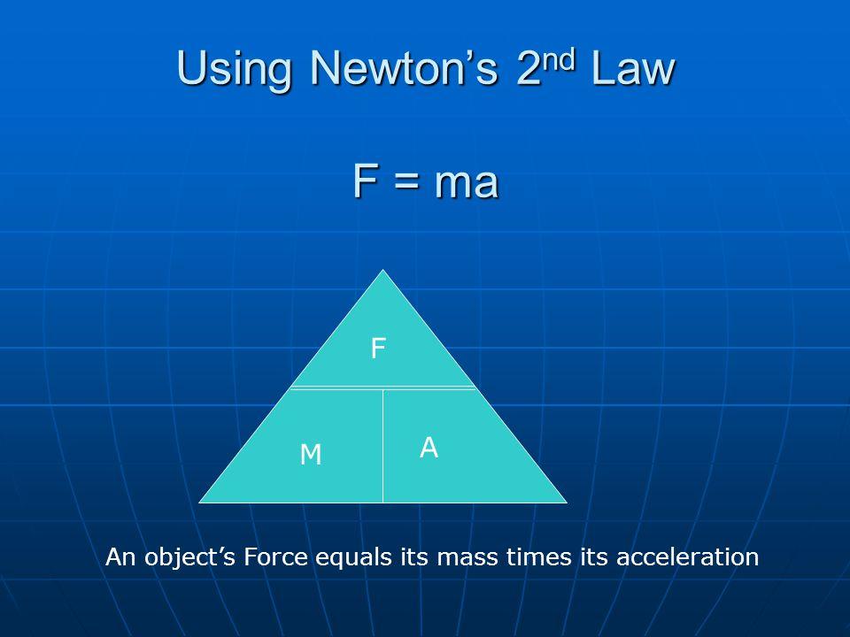 Using Newton's 2nd Law F = ma