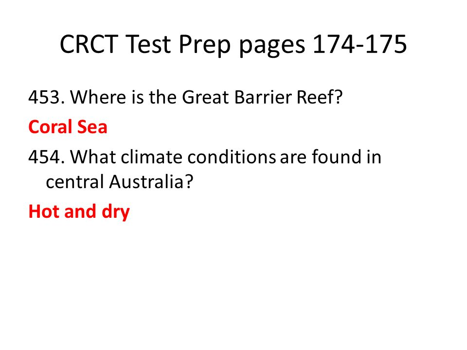 CRCT Test Prep pages 174-175