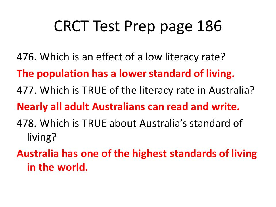 CRCT Test Prep page 186