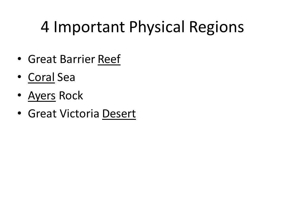 4 Important Physical Regions