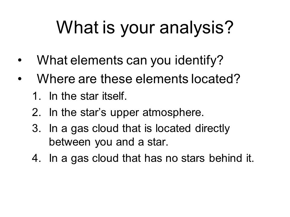 What is your analysis What elements can you identify