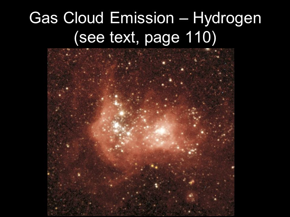 Gas Cloud Emission – Hydrogen (see text, page 110)
