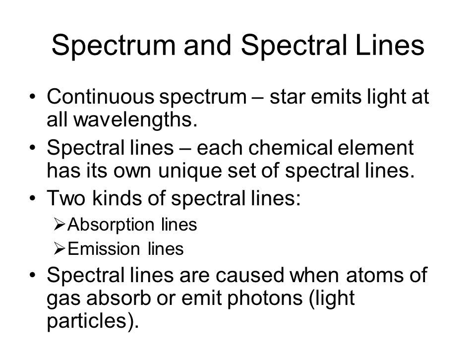Spectrum and Spectral Lines