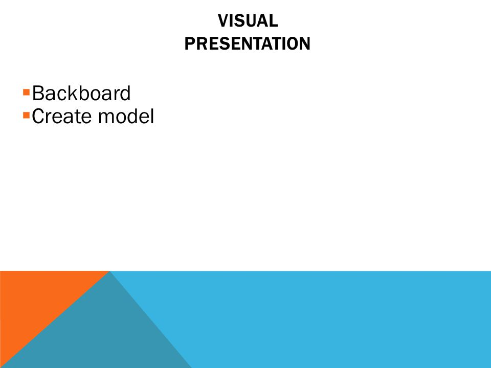 Visual Presentation Backboard Create model