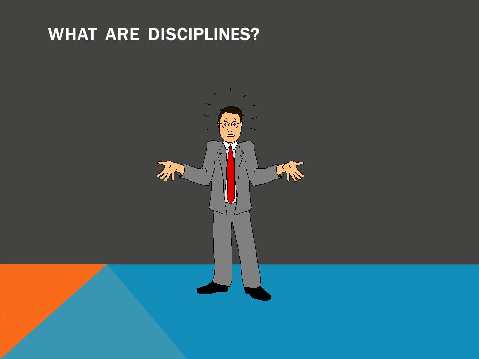 WHAT ARE DISCIPLINES