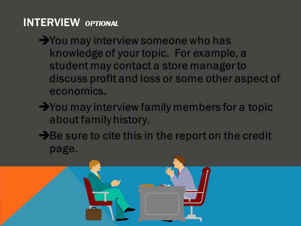 INTERVIEW optional