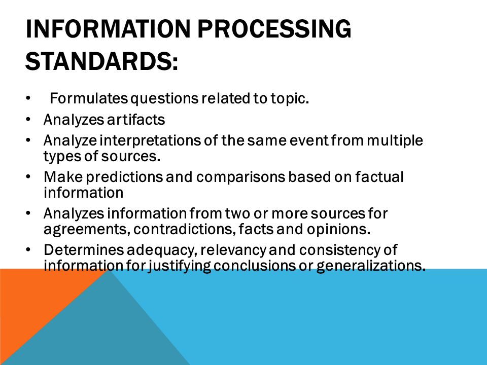 Information Processing Standards: