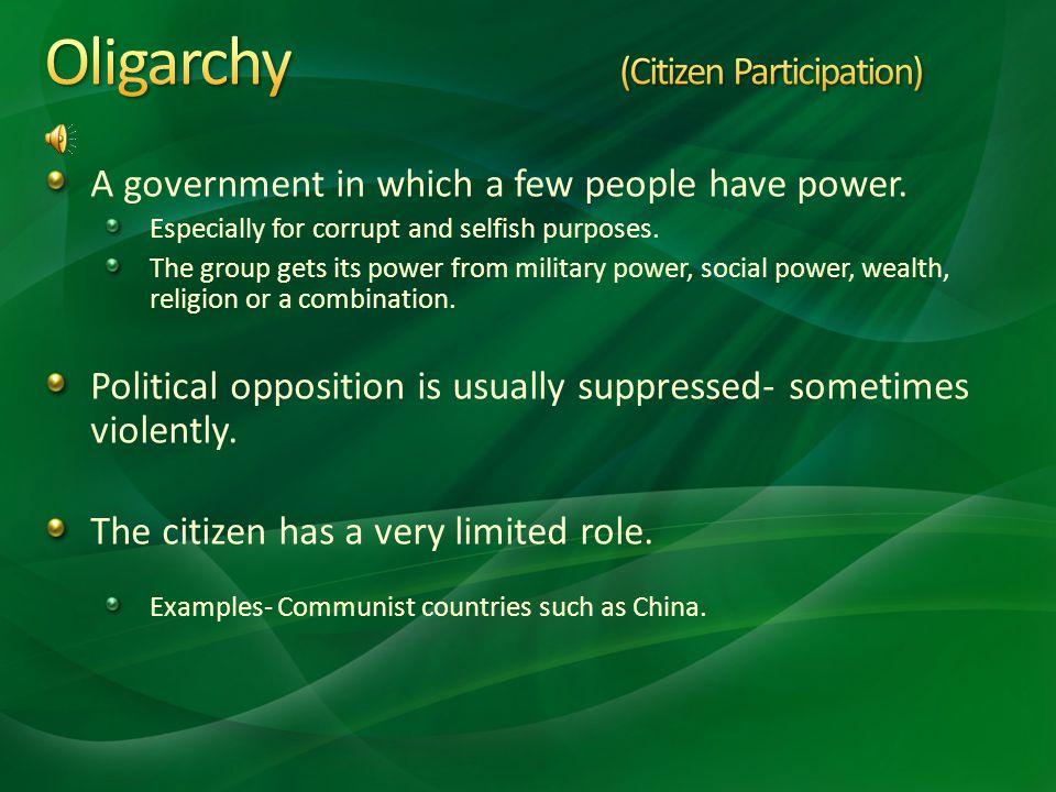 Oligarchy (Citizen Participation)