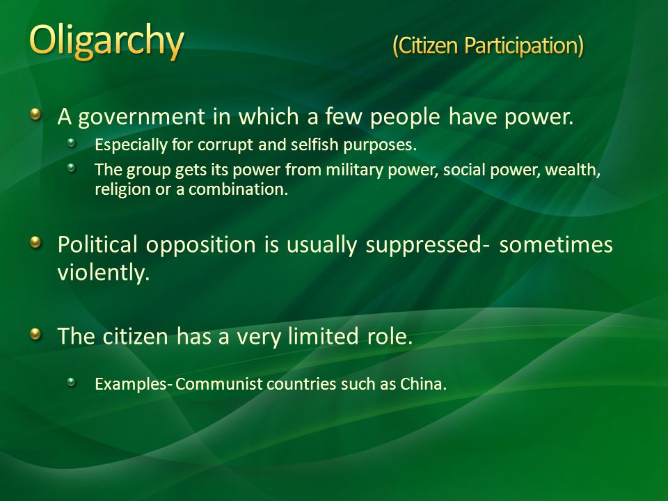 Oligarchy (Citizen Participation)