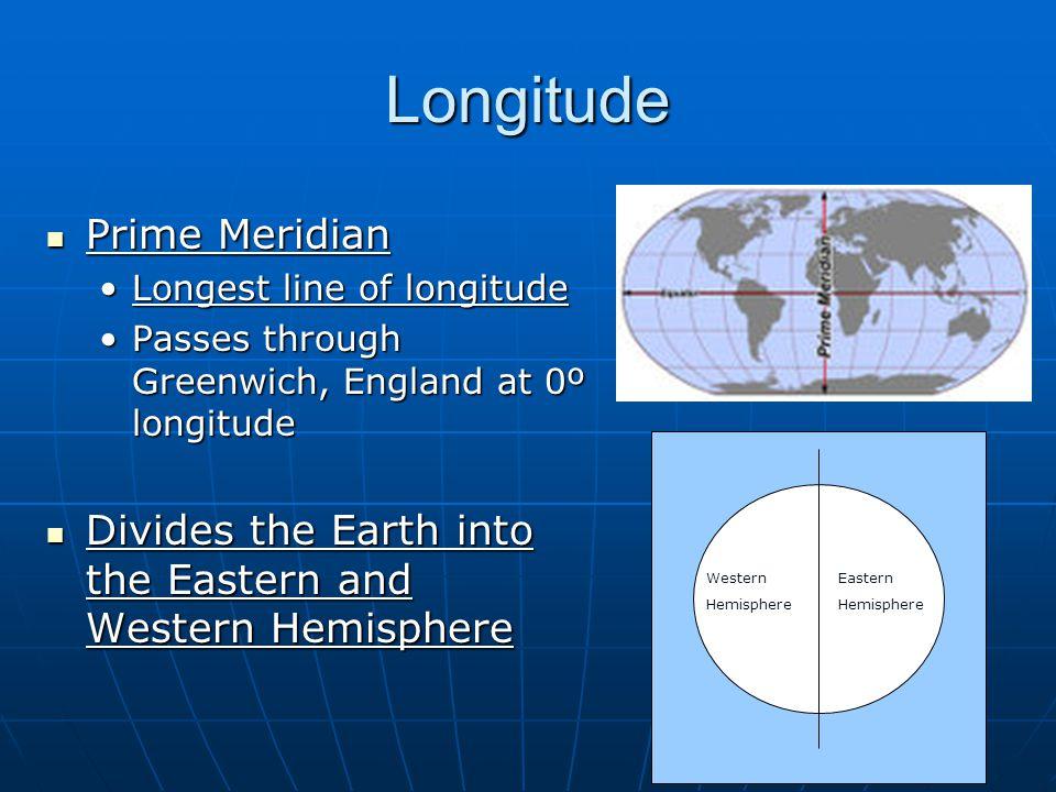 Longitude Prime Meridian