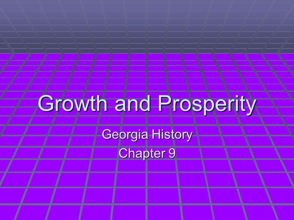 Georgia History Chapter 9