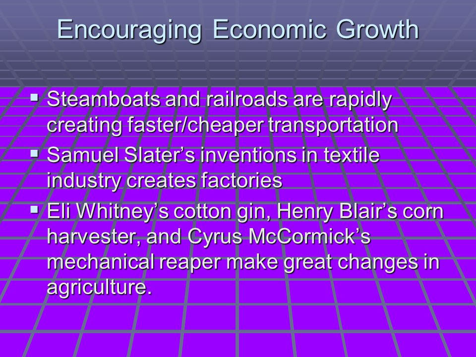 Encouraging Economic Growth
