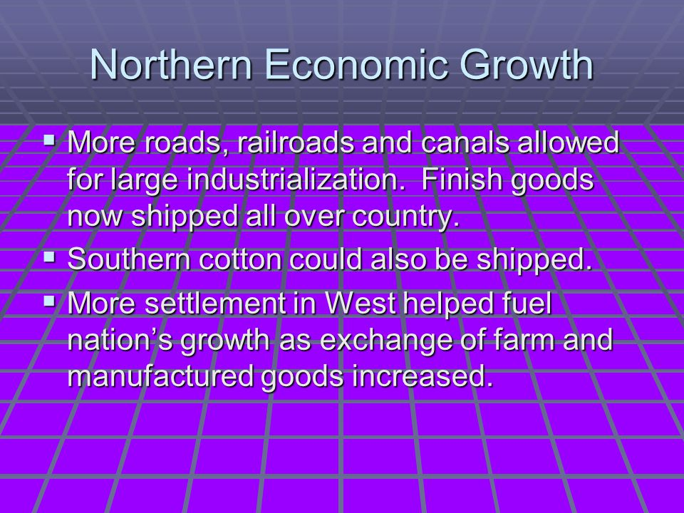 Northern Economic Growth