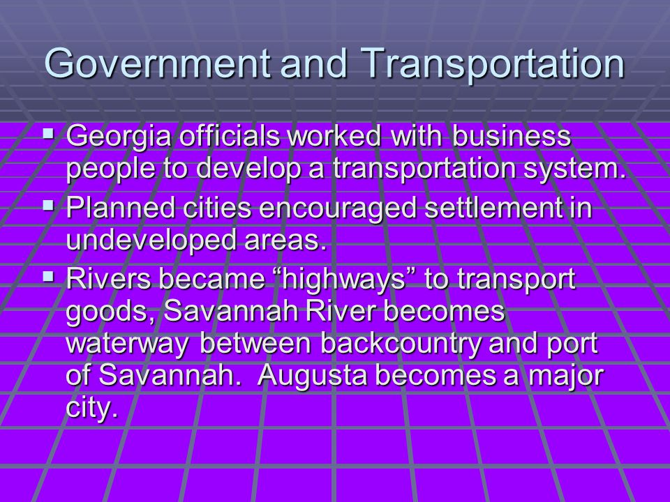 Government and Transportation