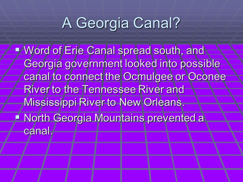 A Georgia Canal