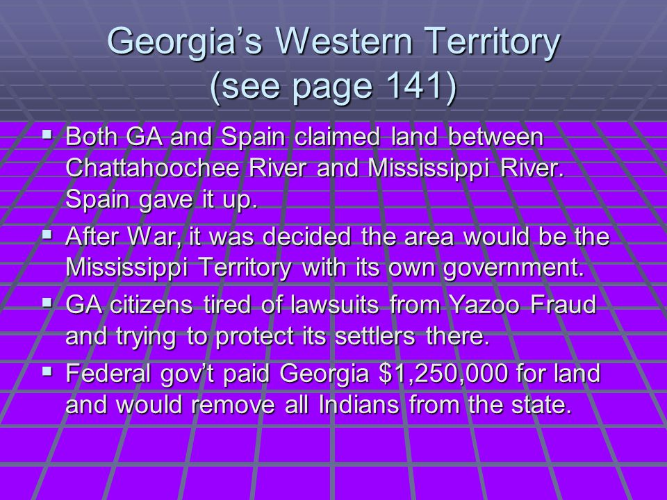 Georgia's Western Territory (see page 141)