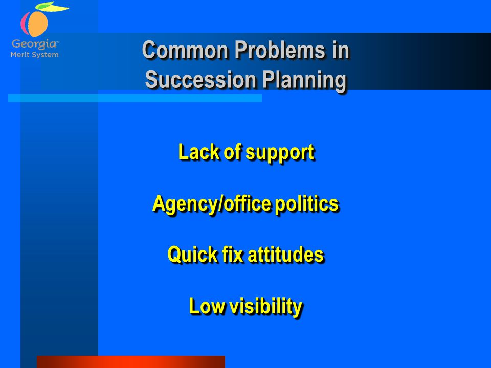 Common Problems in Succession Planning