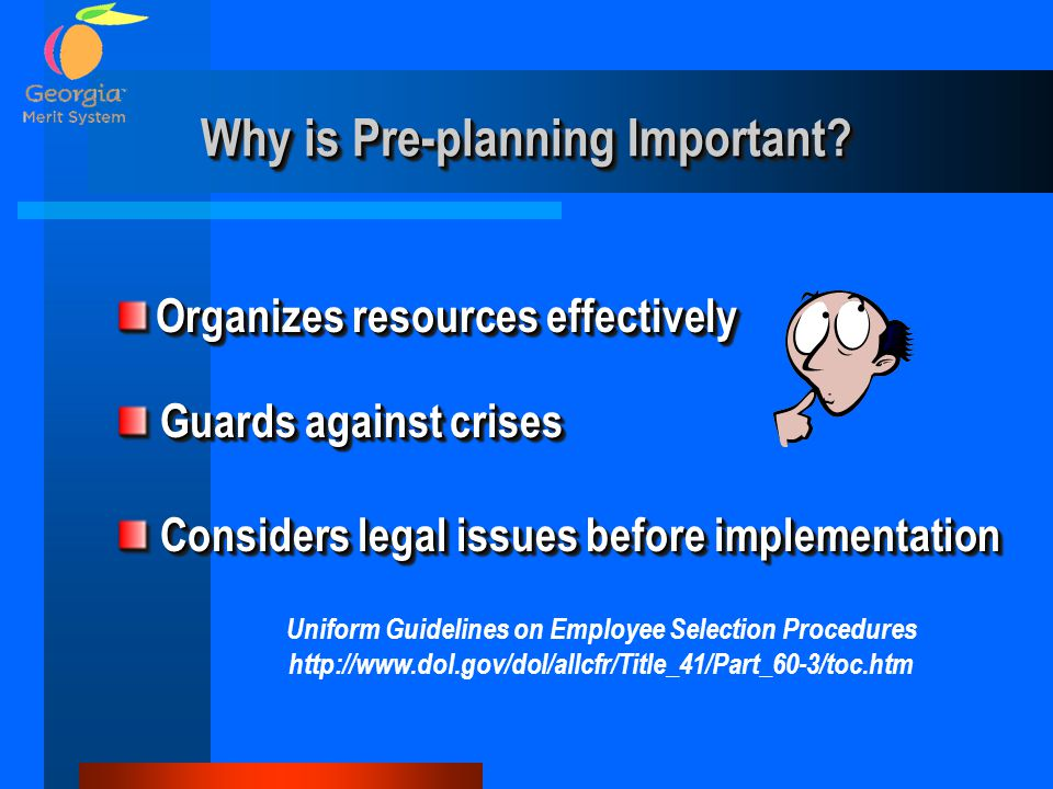 Why is Pre-planning Important