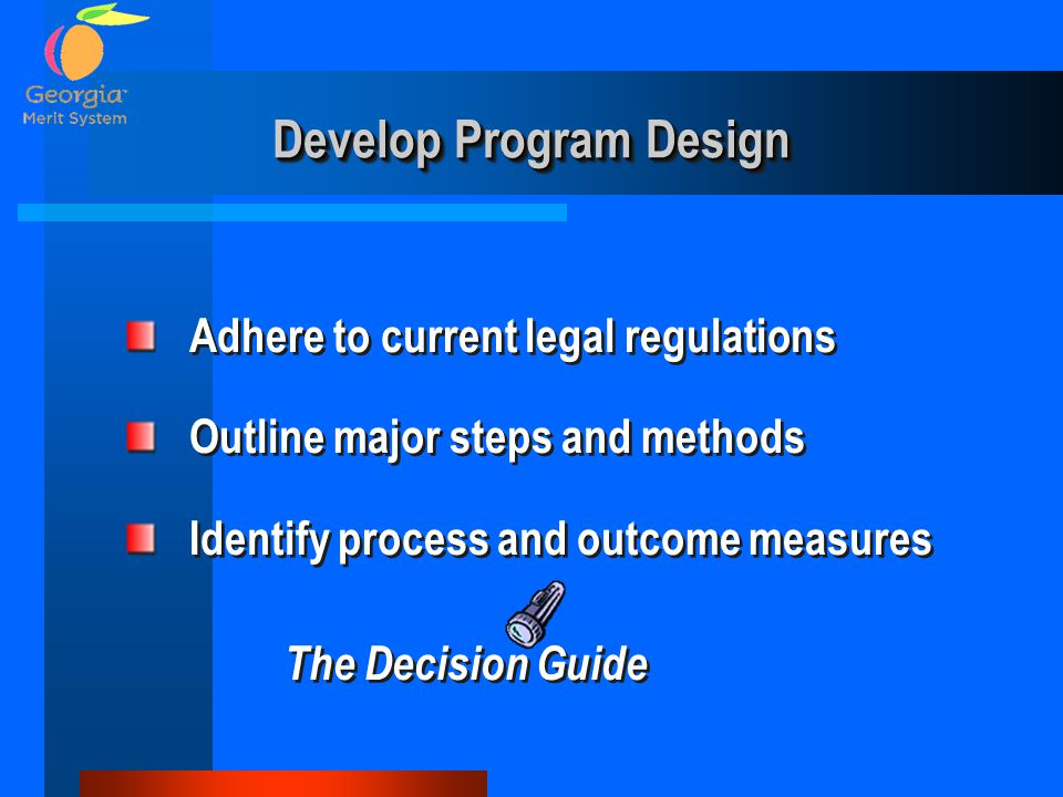 Develop Program Design