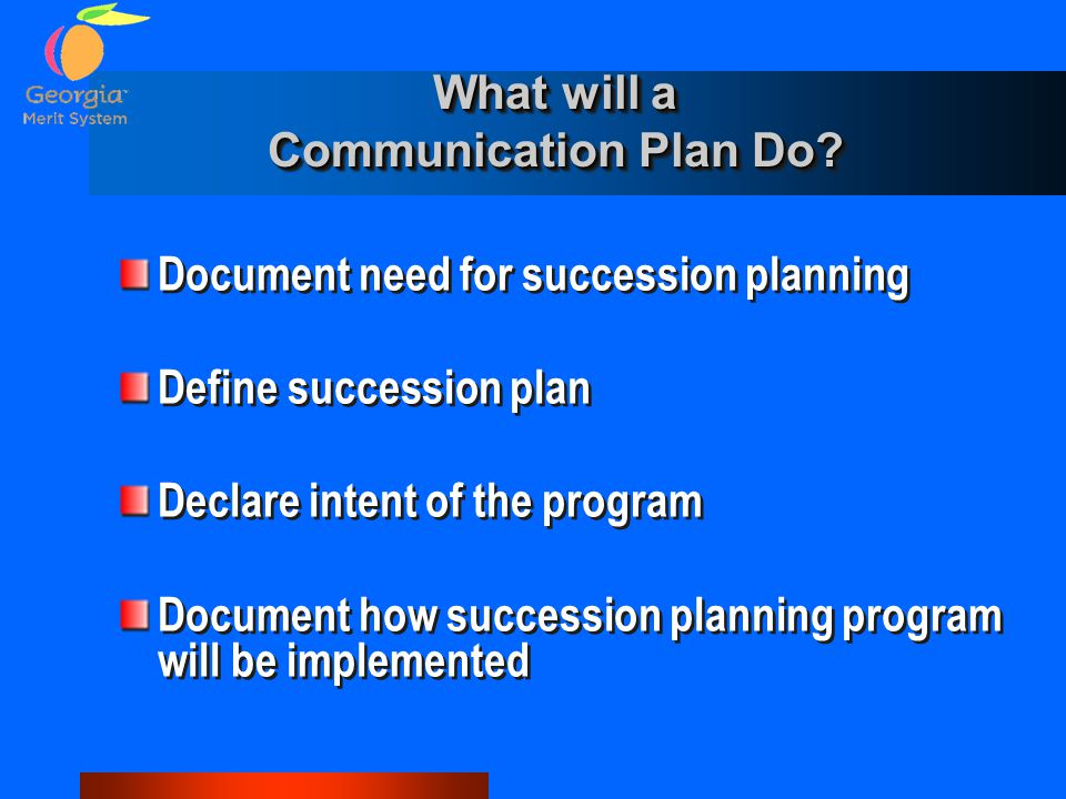 What will a Communication Plan Do