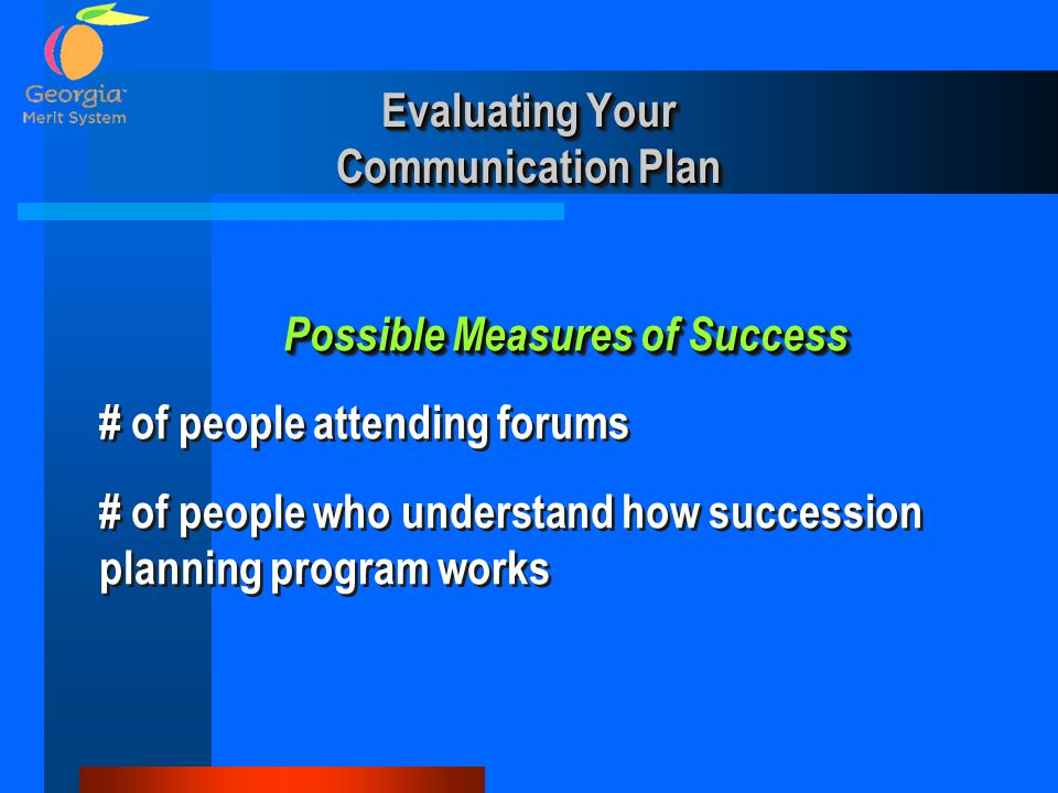 Evaluating Your Communication Plan