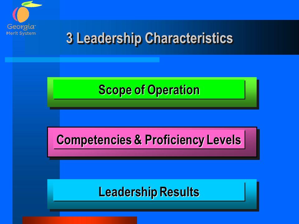3 Leadership Characteristics